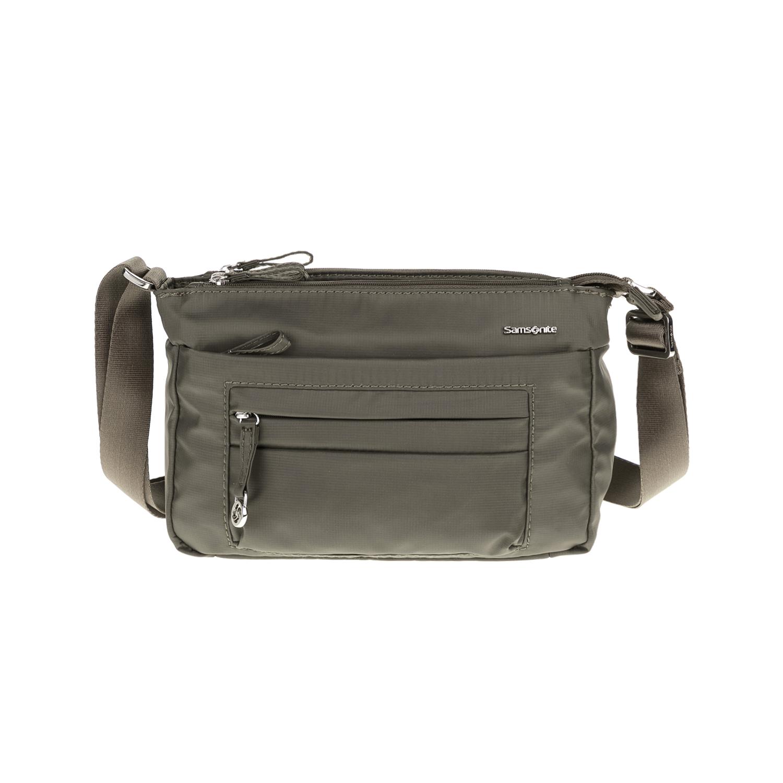 SAMSONITE – Τσάντα ώμου HORIZ γκρι-πράσινη 1615498.0-0000