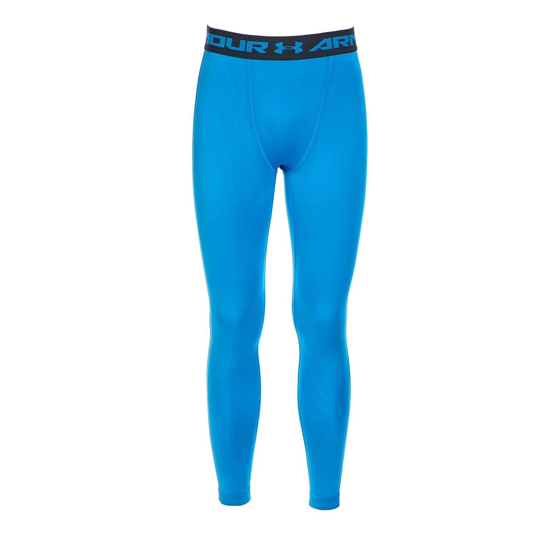 UNDER ARMOUR - Ανδρικό αθλητικό μακρύ κολάν Under Armour HG COMP ανοιχτό μπλε ανδρικά ρούχα αθλητικά κολάν