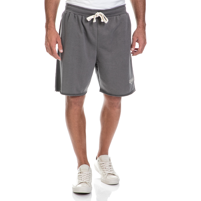 JUST POLO - Ανδρική βερμούδα Just Polo γκρι ανδρικά ρούχα σορτς βερμούδες αθλητικά