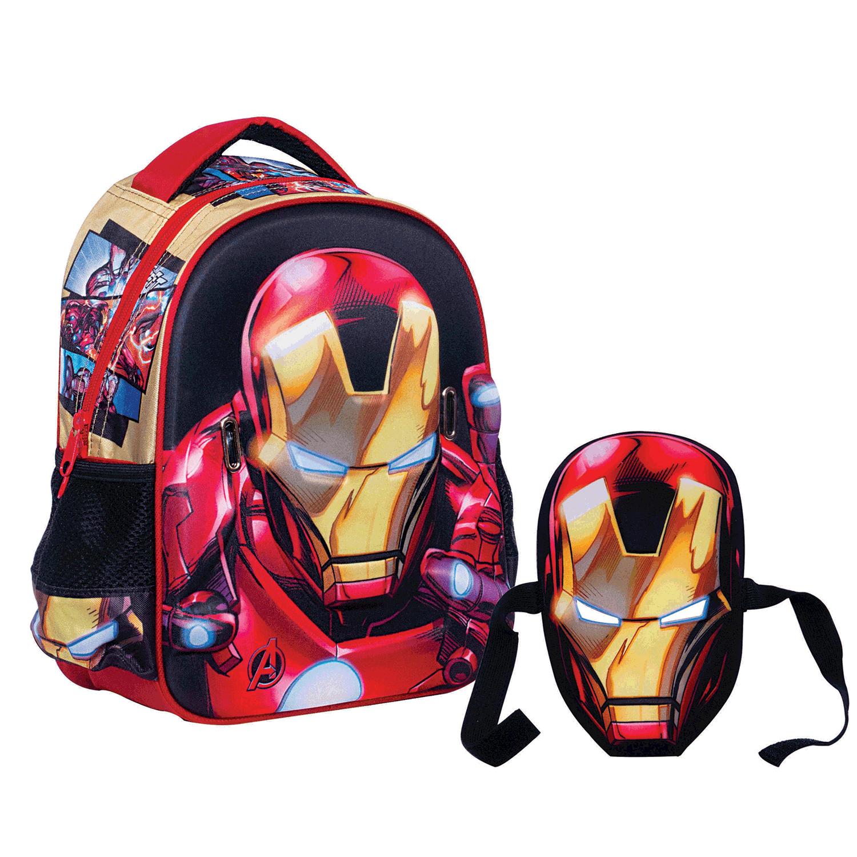 GIM – Παιδική τσάντα GIM μαύρη-κόκκινη