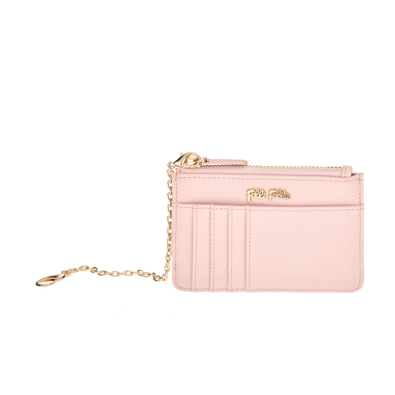 FOLLI FOLLIE - Θήκη κερμάτων και καρτών με αλυσίδα Folli Follie ροζ γυναικεία αξεσουάρ θήκες