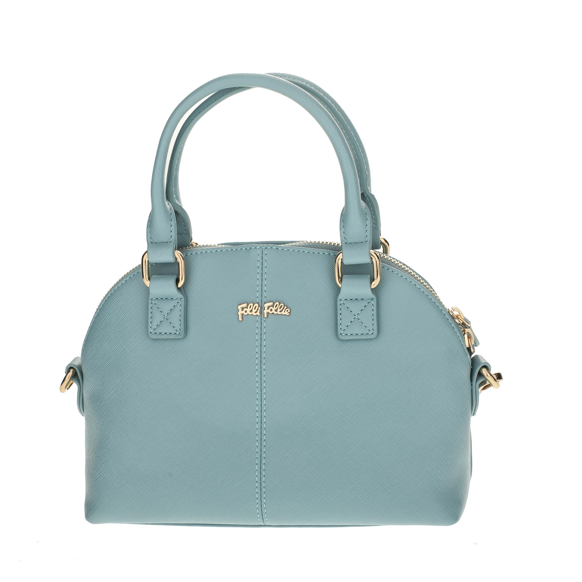 FOLLI FOLLIE – Γυναικεία μικρή τσάντα χειρός Folli Follie γαλάζια 1618094.0-0000