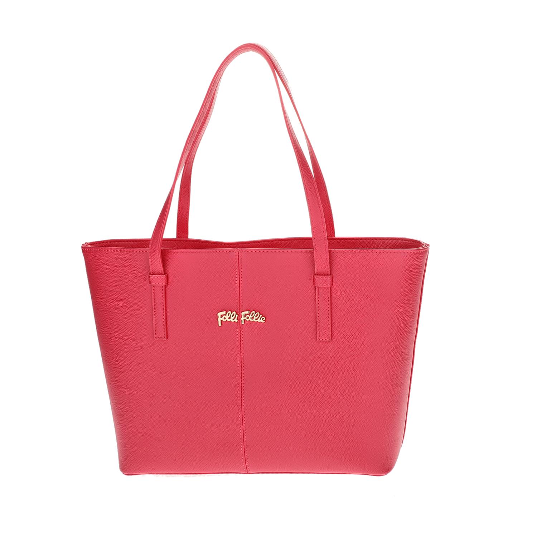 FOLLI FOLLIE – Γυναικεία μεσαία τσάντα ώμου Folli Follie φούξια 1618104.0-0000