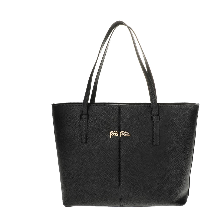 FOLLI FOLLIE – Γυναικεία μεσαία τσάντα ώμου Folli Follie μαύρη 1618105.0-0000