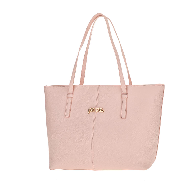 FOLLI FOLLIE – Γυναικεία μεσαία τσάντα ώμου Folli Follie ροζ 1618106.0-0000
