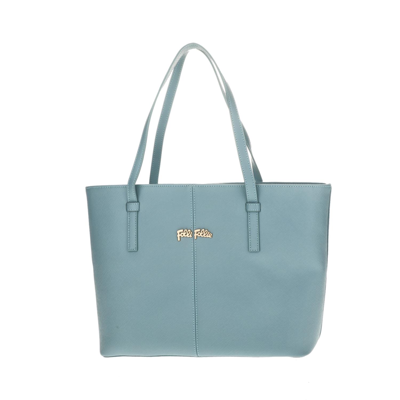 FOLLI FOLLIE – Γυναικεία μεσαία τσάντα ώμου Folli Follie γαλάζια 1618107.0-0000