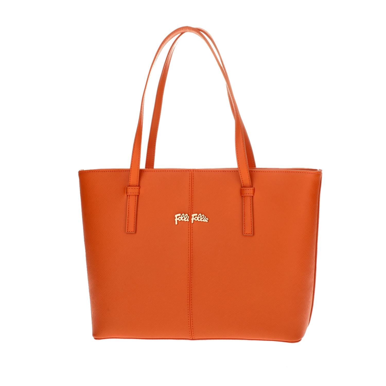 FOLLI FOLLIE – Γυναικεία μεσαία τσάντα ώμου Folli Follie πορτοκαλί 1618108.0-0000