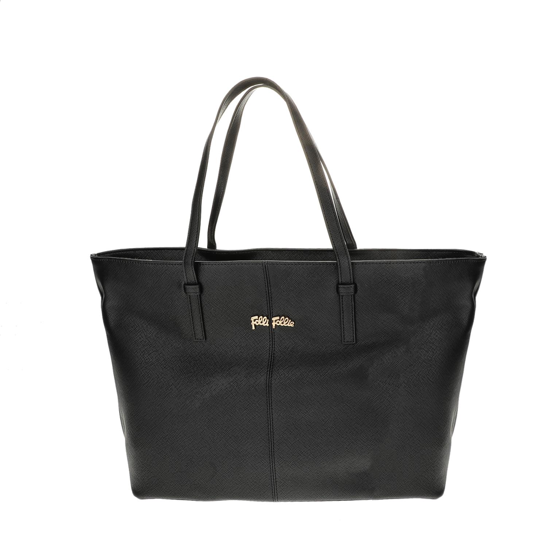 FOLLI FOLLIE – Γυναικεία μεγάλη τσάντα ώμου Folli Follie μαύρη 1618110.0-0000