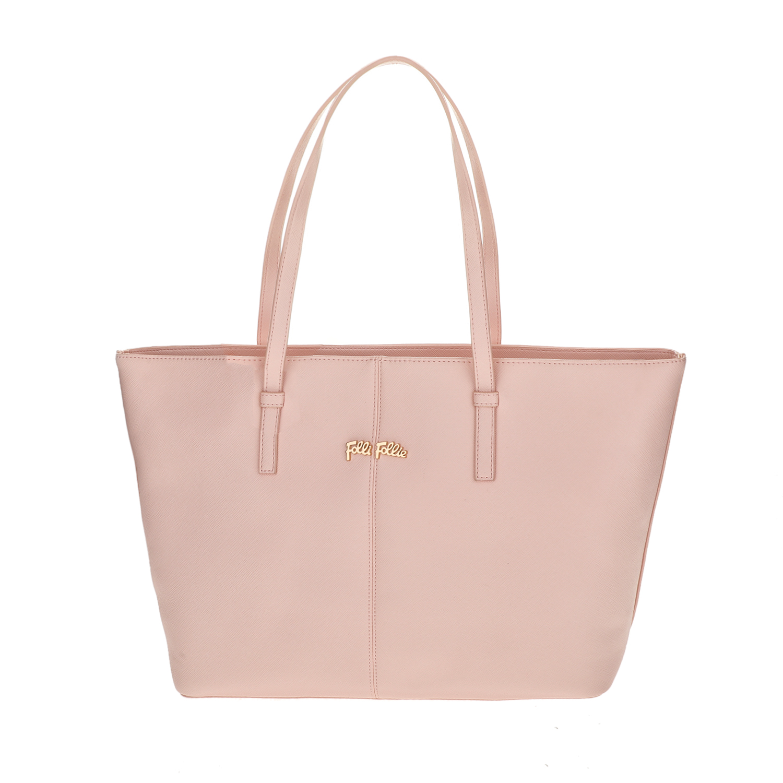 FOLLI FOLLIE – Γυναικεία μεγάλη τσάντα ώμου Folli Follie ροζ 1618111.0-0000