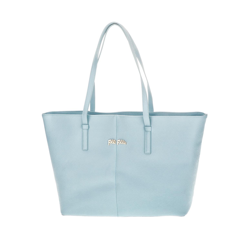 FOLLI FOLLIE – Γυναικεία μεγάλη τσάντα ώμου Folli Follie γαλάζια 1618112.0-0000