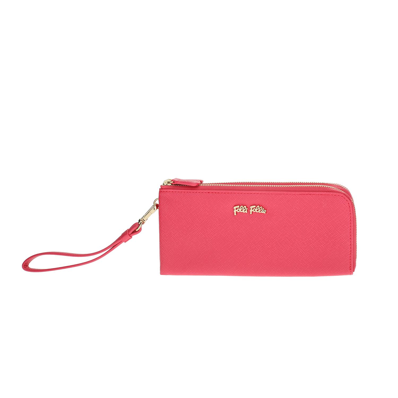 0665123492 FOLLI FOLLIE – Γυναικείο πορτοφόλι με φερμουάρ Folli Follie φούξια