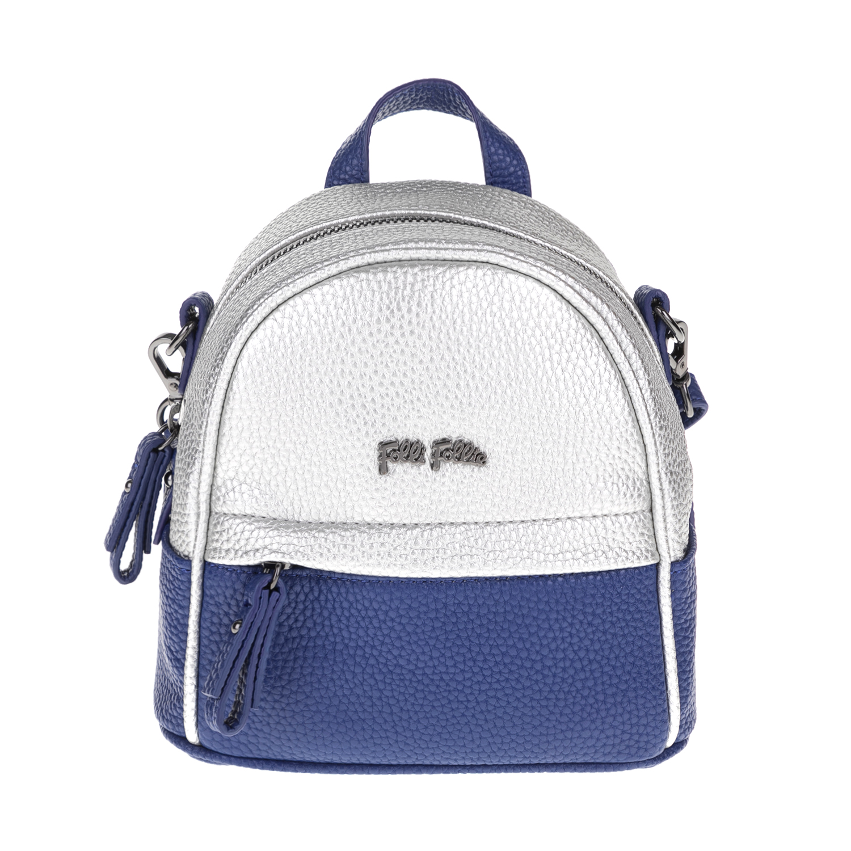FOLLI FOLLIE – Γυναικεία τσάντα πλάτης FOLLI FOLLIE μπλε-ασημί 1619079.0-0000