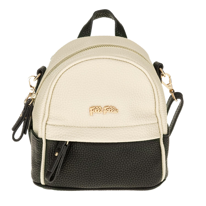 FOLLI FOLLIE – Γυναικεία τσάντα πλάτης FOLLI FOLLIE εκρού-μαύρη 1619081.0-0000
