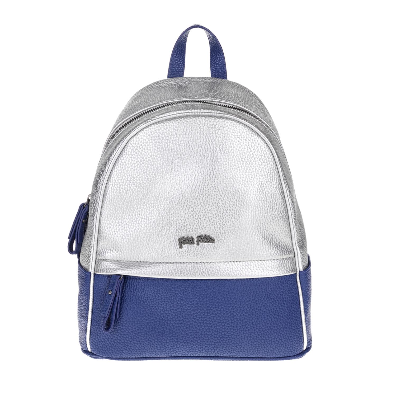 FOLLI FOLLIE – Γυναικεία τσάντα πλάτης FOLLI FOLLIE μπλε-ασημί 1619082.0-0000