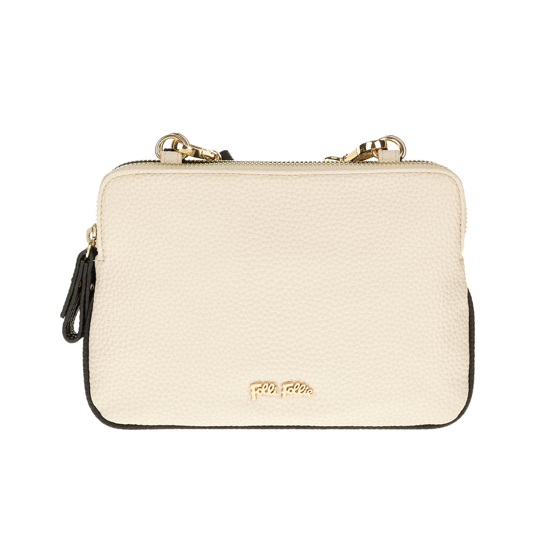 FOLLI FOLLIE – Γυναικεία τσάντα FOLLI FOLLIE εκρού-μαύρη 1619087.0-0000