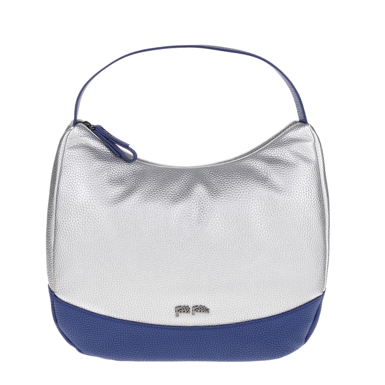 FOLLI FOLLIE – Γυναικεία τσάντα ώμου FOLLI FOLLIE ασημί-μπλε 1619088.0-0000