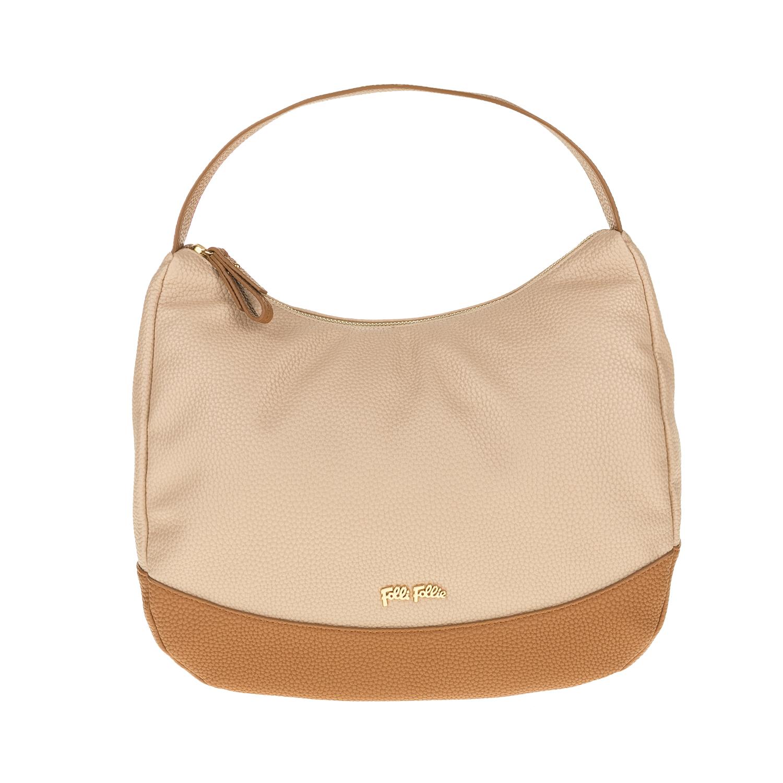 FOLLI FOLLIE – Γυναικεία τσάντα ώμου FOLLI FOLLIE μπεζ-καφέ 1619089.0-0000