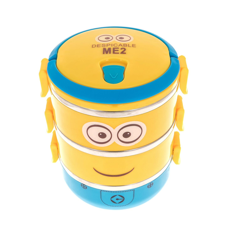 MOOD MAKERS - Τριπλό δοχείο φαγητού Mood Makers κίτρινο παιδικά boys αξεσουάρ λοιπά