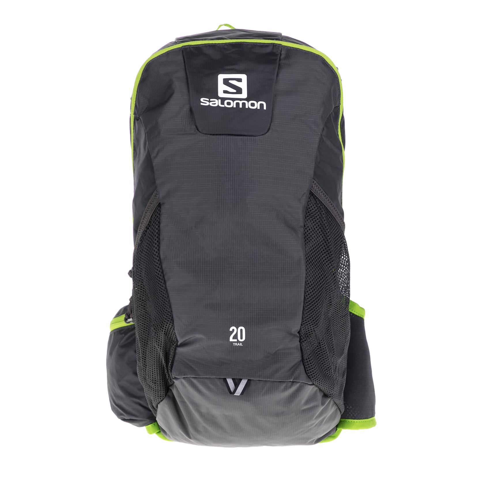 SALOMON – Σακίδιο πλάτης SALOMON PACKS BAG TRAIL 20 B γκρι-πράσινο