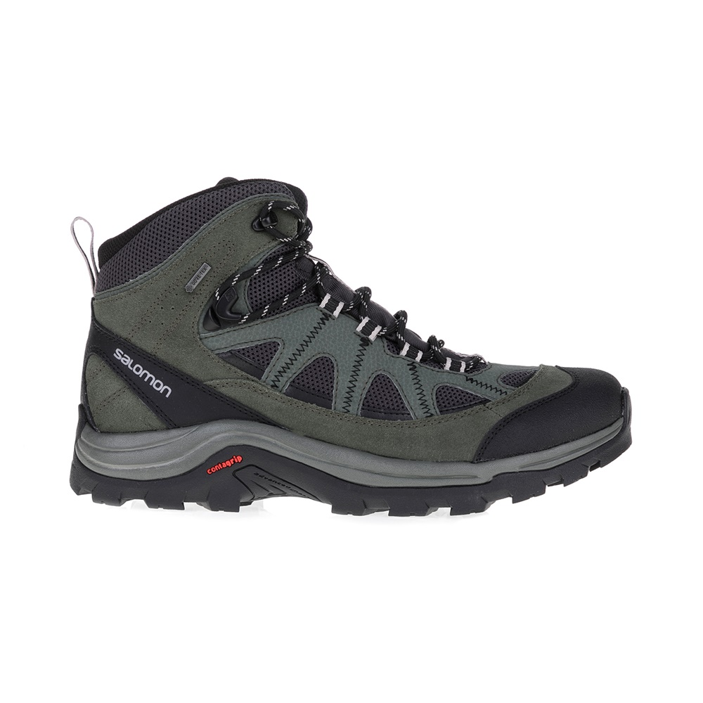 SALOMON – Ανδρικά μποτάκια BACKPACKING SHOES AUTHENTIC SALOMON μαύρα-χακί