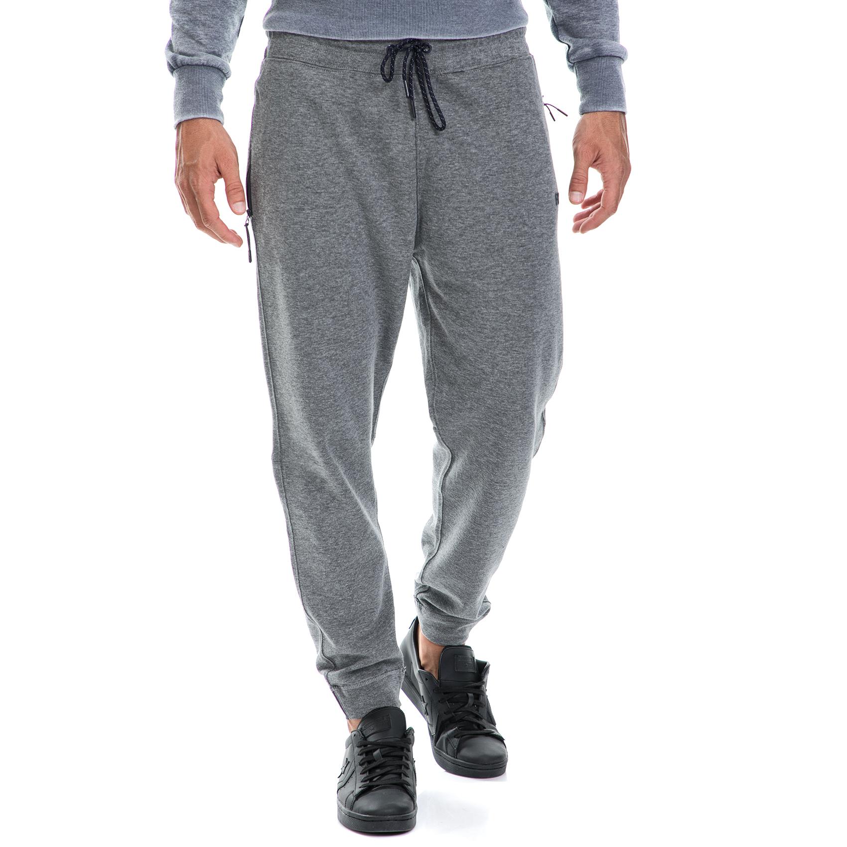 FUNKY BUDDA - Ανδρικό παντελόνι/φόρμα FUNKY BUDDA γκρι ανδρικά ρούχα αθλητικά φόρμες