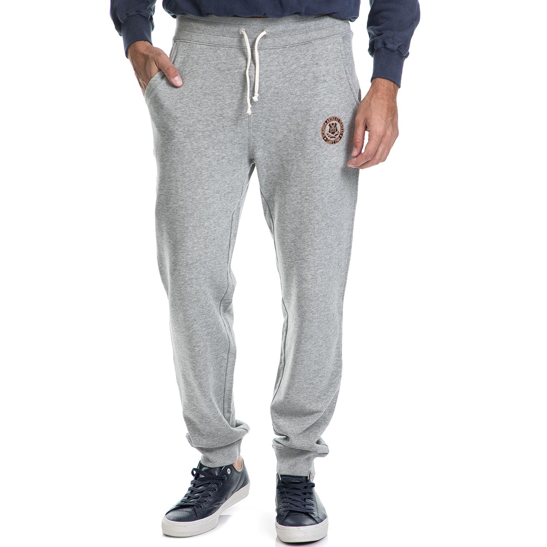 GANT - Ανδρικό παντελόνι φούτερ GANT γκρι ανδρικά ρούχα αθλητικά φόρμες