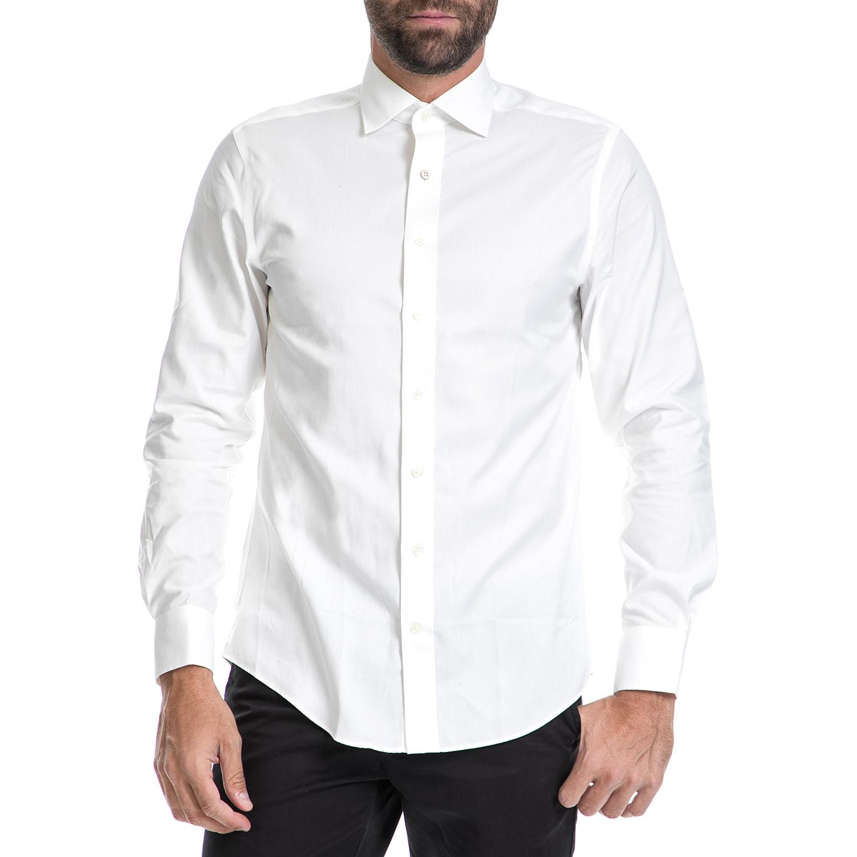 GANT - Ανδρικό πουκάμισο GANT λευκό ανδρικά ρούχα πουκάμισα μακρυμάνικα