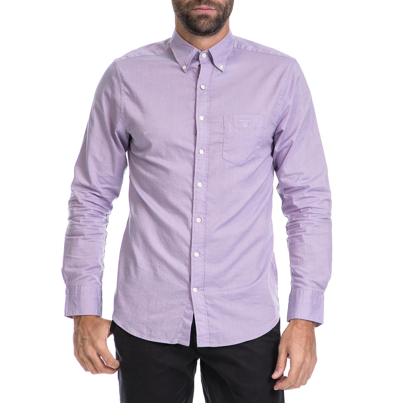 GANT – Ανδρικό πουκάμισο GANT μωβ