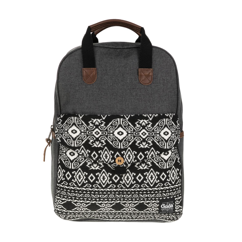 G.RIDE – Γυναικεία τσάντα πλάτης BENEDICTE G.RIDE γκρι-μαύρη 1627320.0-G673