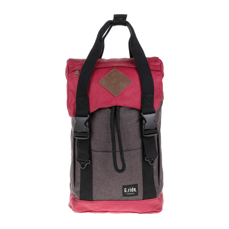 G.RIDE – Unisex τσάντα πλάτης ARTHUR G.RIDE καφέ-κόκκινη 1627323.0-K445