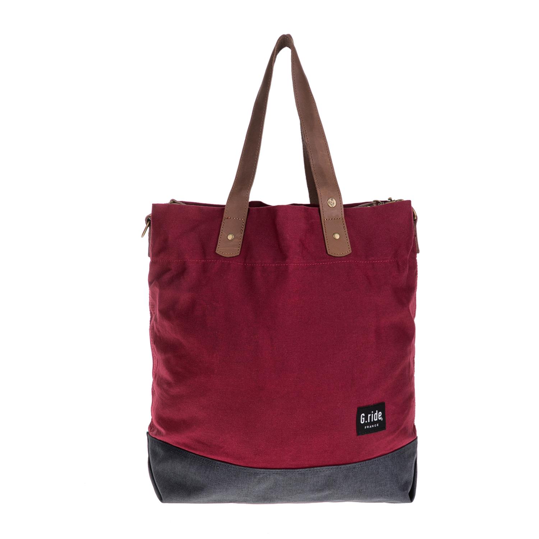 G.RIDE – Γυναικεία τσάντα ώμου CAROLE G.RIDE κόκκινη-γκρι 1627329.0-4501