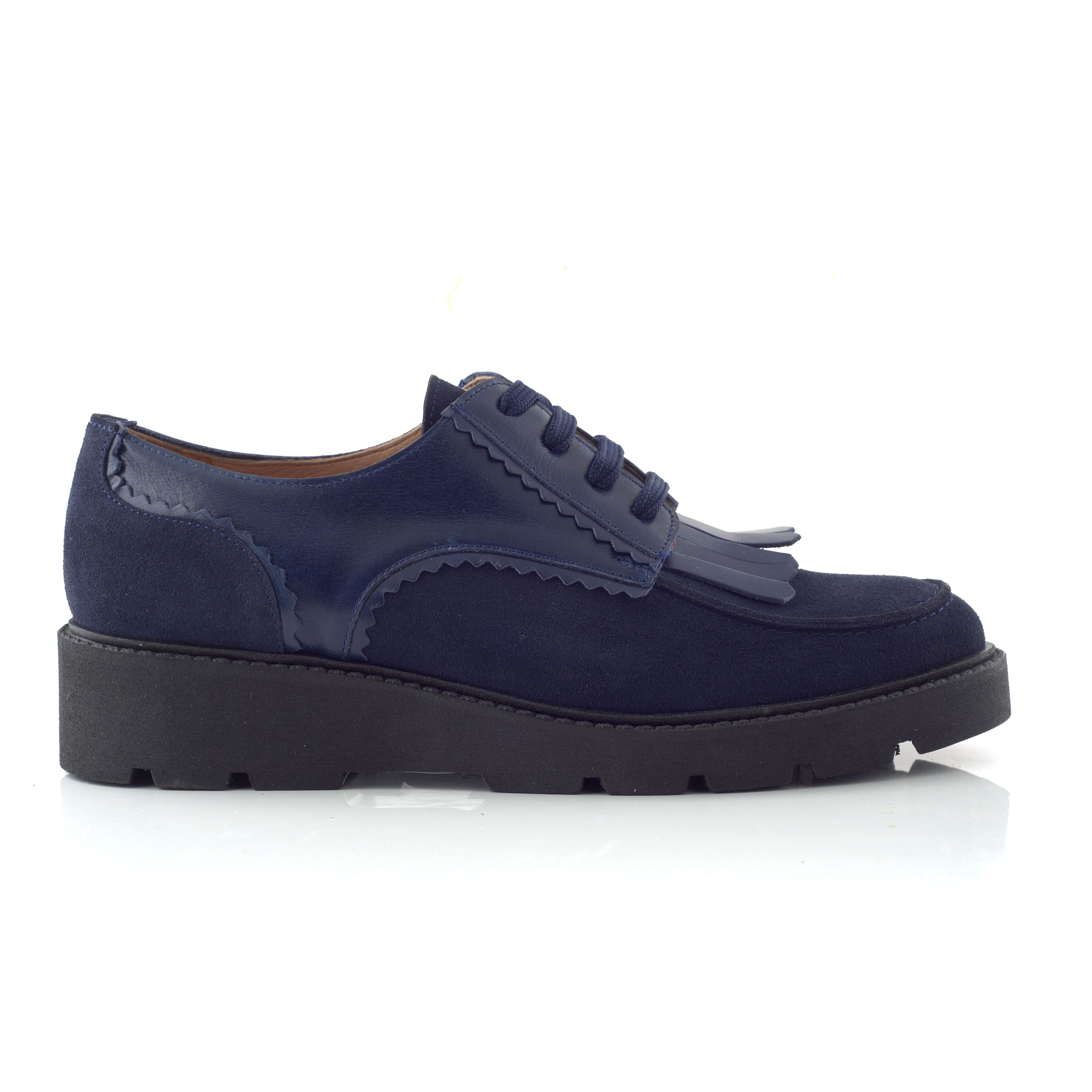 CHANIOTAKIS – Γυναικεία παπούτσια OXFORD SOFTY μπλε