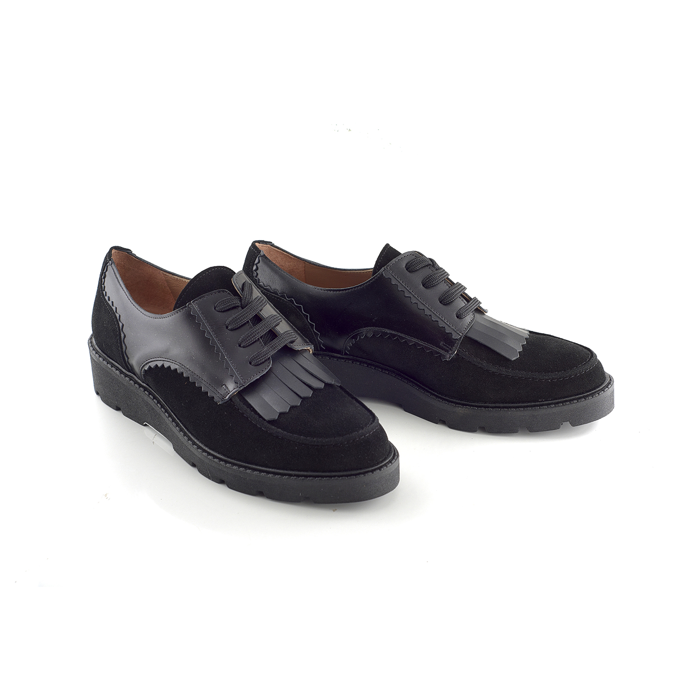 CHANIOTAKIS – Γυναικεία παπούτσια OXFORD SOFTY μαύρα
