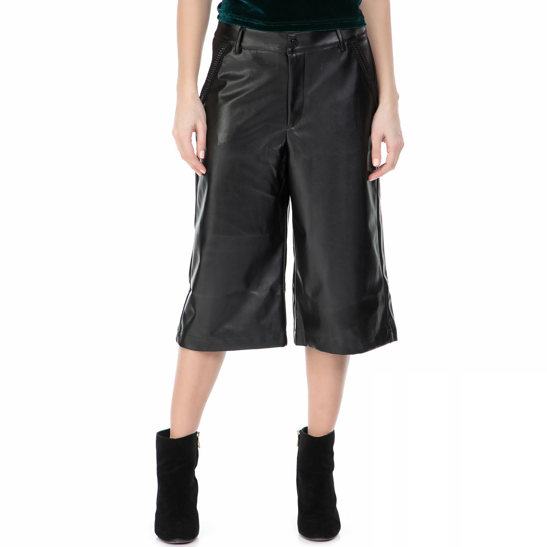 MYMOO - Ζιπ κιλότ MYMOO μαύρη γυναικεία ρούχα παντελόνια casual