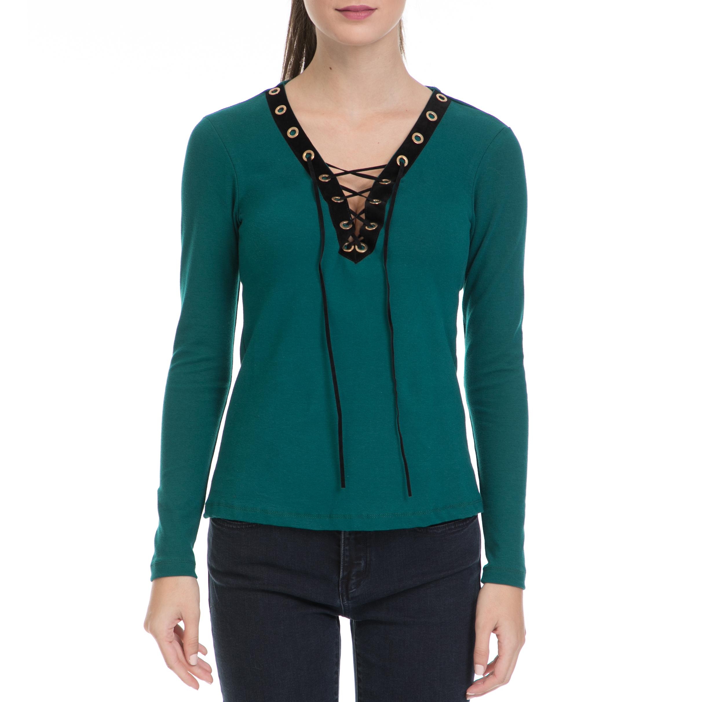 MYMOO – Γυναικεία μπλούζα TOP RIB ΜΥΜΟΟ πράσινη