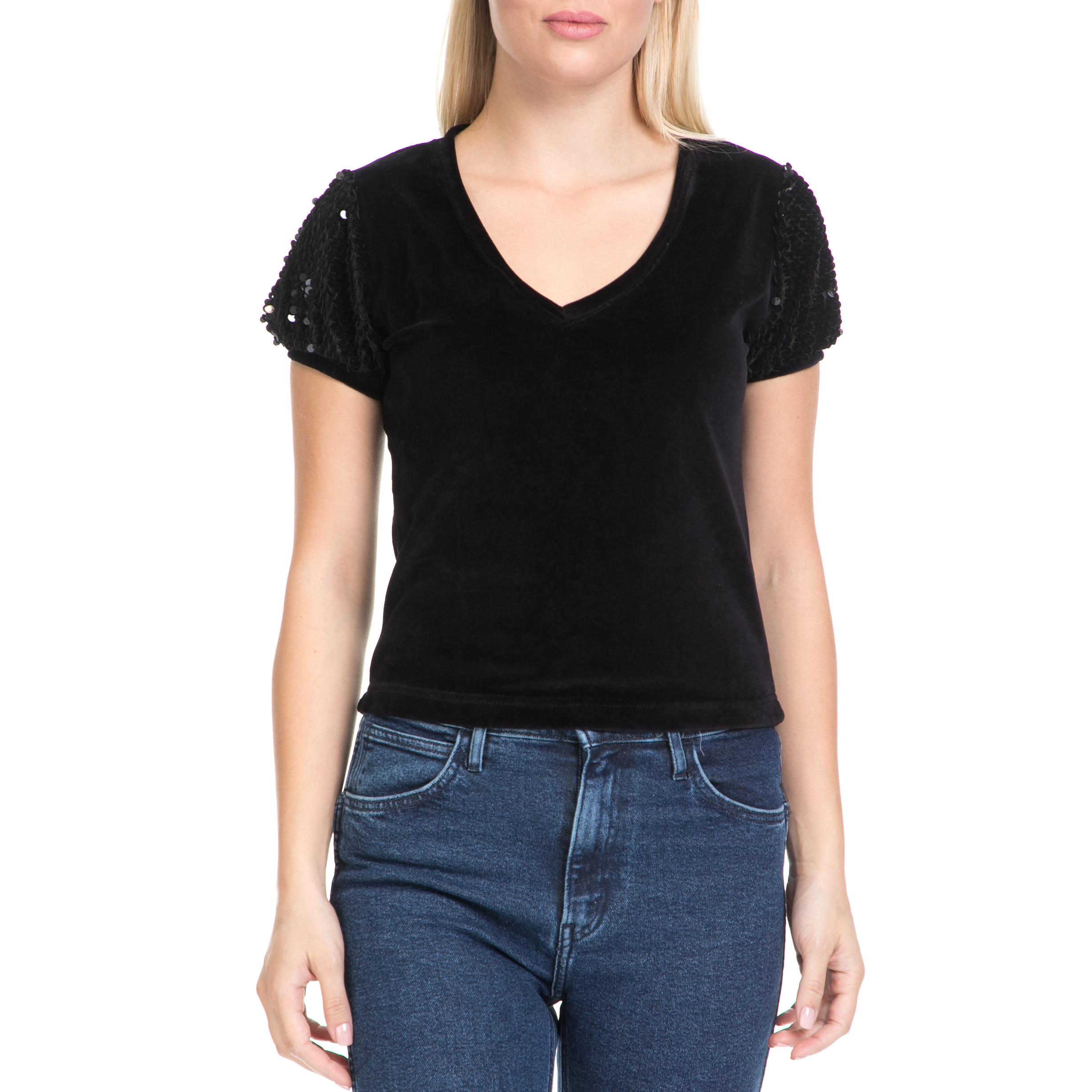 MYMOO – Γυναικεία μπλούζα MYMOO μαύρη