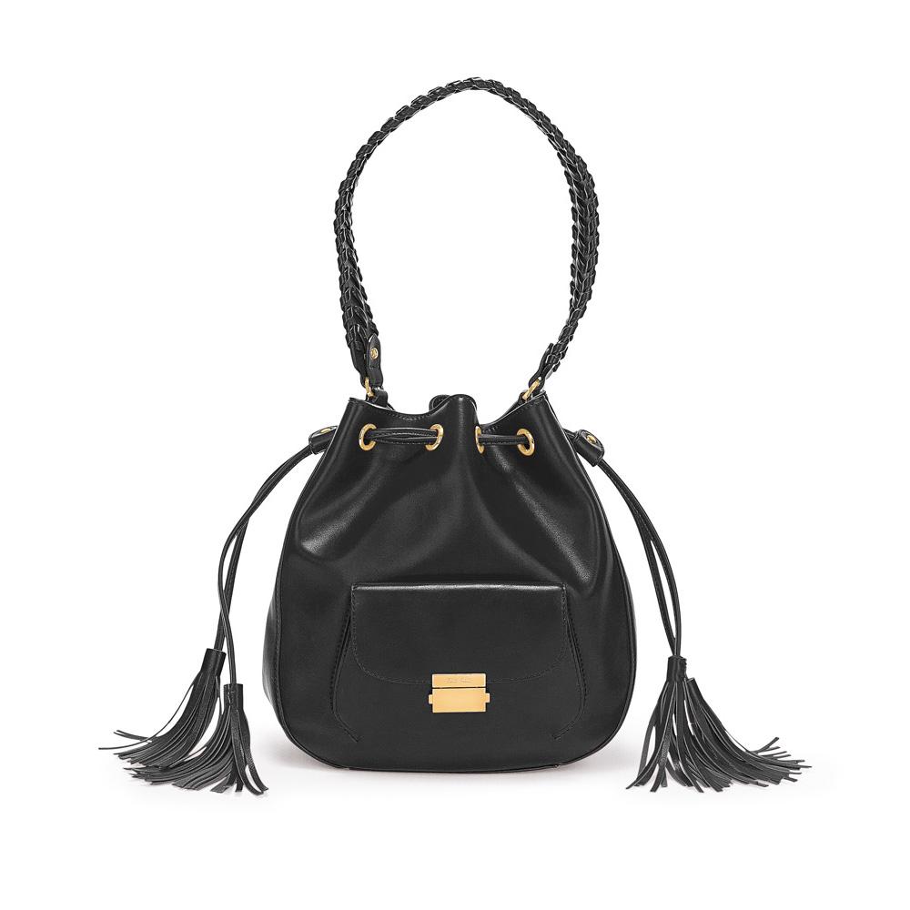 FOLLI FOLLIE – Γυναικεία τσάντα/πουγκί FOLLI FOLLIE μαύρη 1629162.0-0000