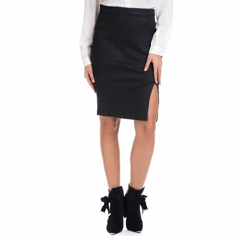 TOMMY HILFIGER - Γυναικεία φούστα DESTINY TOMMY HILFIGER μαύρη γυναικεία ρούχα φούστες μέχρι το γόνατο