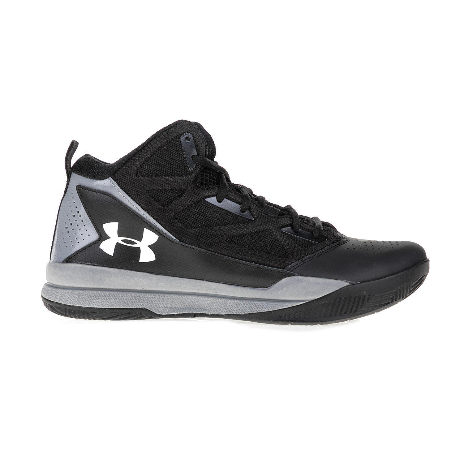 UNDER ARMOUR – Ανδρικά παπούτσια μπάσκετ UNDER ARMOUR Jet Mid ΥΠΟΔΗΜΑ μαύρα-γκρι