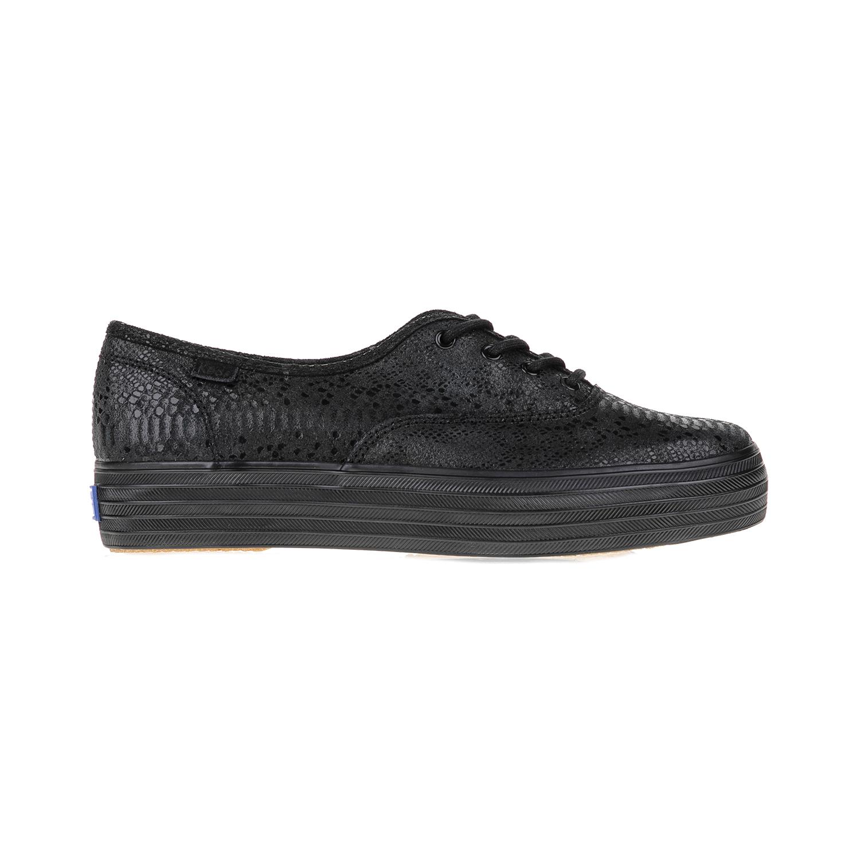 KEDS – Γυναικεία παπούτσια TRIPLE EXOTIC SHIMMER BLACK KEDS μαύρα