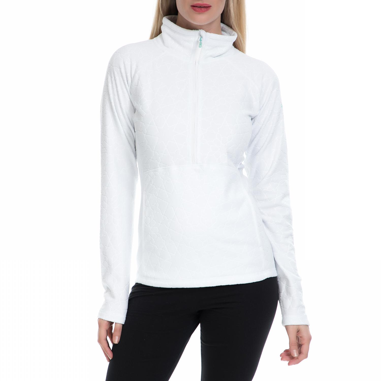 ROXY - Γυναικεία μακρυμάνικη μπλούζα J OTLR ΜΠΛΟΥΖΑ λευκή γυναικεία ρούχα αθλητικά φούτερ μακρυμάνικα