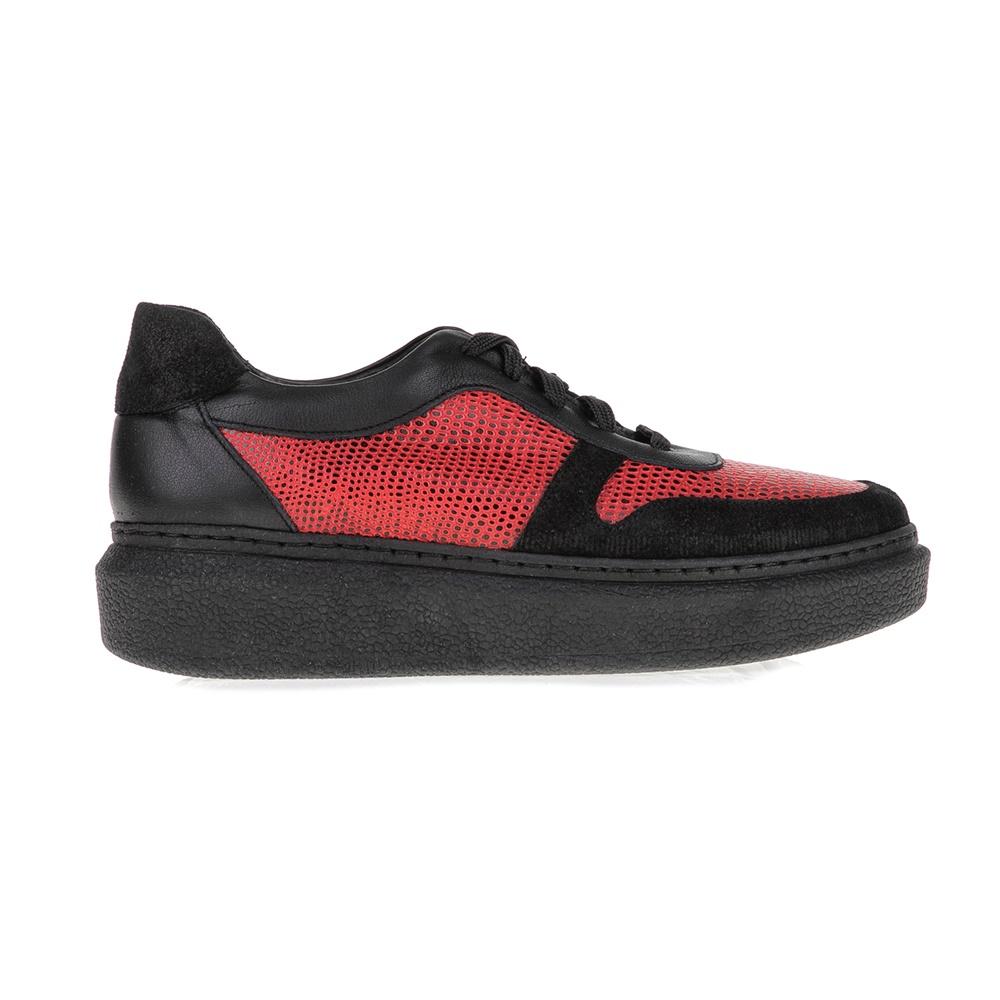 CHANIOTAKIS - Γυναικεία παπούτσια SPORT AFRICA CHANIOTAKIS μαύρα-κόκκινα γυναικεία παπούτσια μοκασίνια μπαλαρίνες μοκασίνια