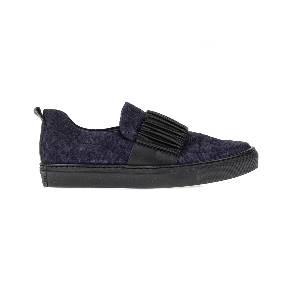 CHANIOTAKIS - Γυναικεία slip on SPORT ADRIANO CHANIOTAKIS μπλε-μαύρα γυναικεία παπούτσια μοκασίνια μπαλαρίνες μοκασίνια