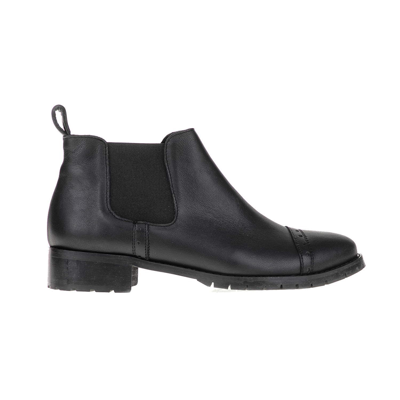 CHANIOTAKIS - Γυναικεία μποτάκια NAPPA CHANIOTAKIS μαύρα γυναικεία παπούτσια μπότες μποτάκια μποτάκια