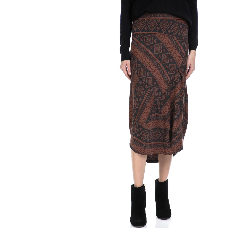 'ALE – Γυναικεία φούστα 'ALE γκρι-καφέ