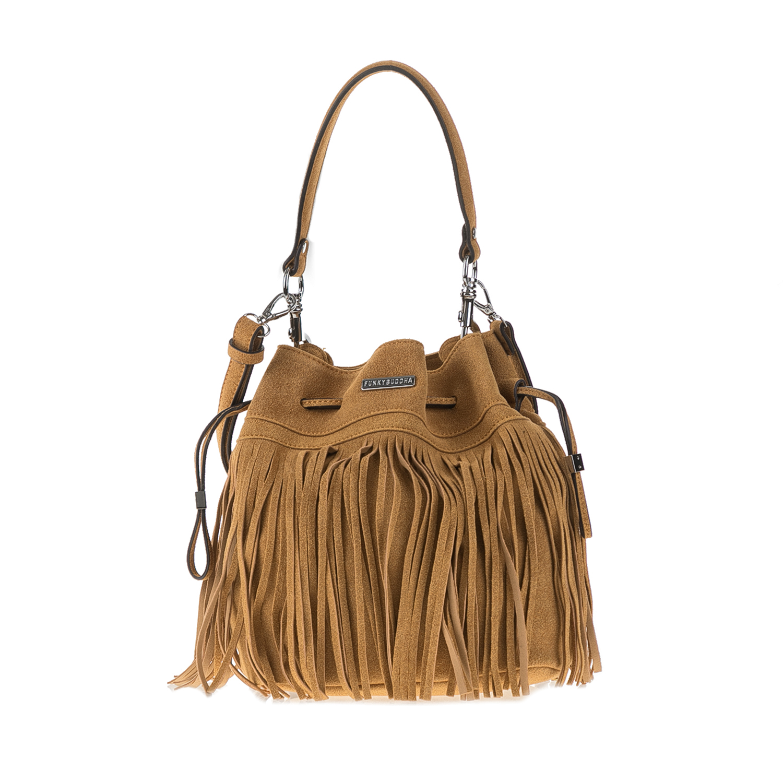 FUNKY BUDDHA – Γυναικεία τσάντα ώμου FUNKY BUDDΗA καφέ 1634484.0-X7X4