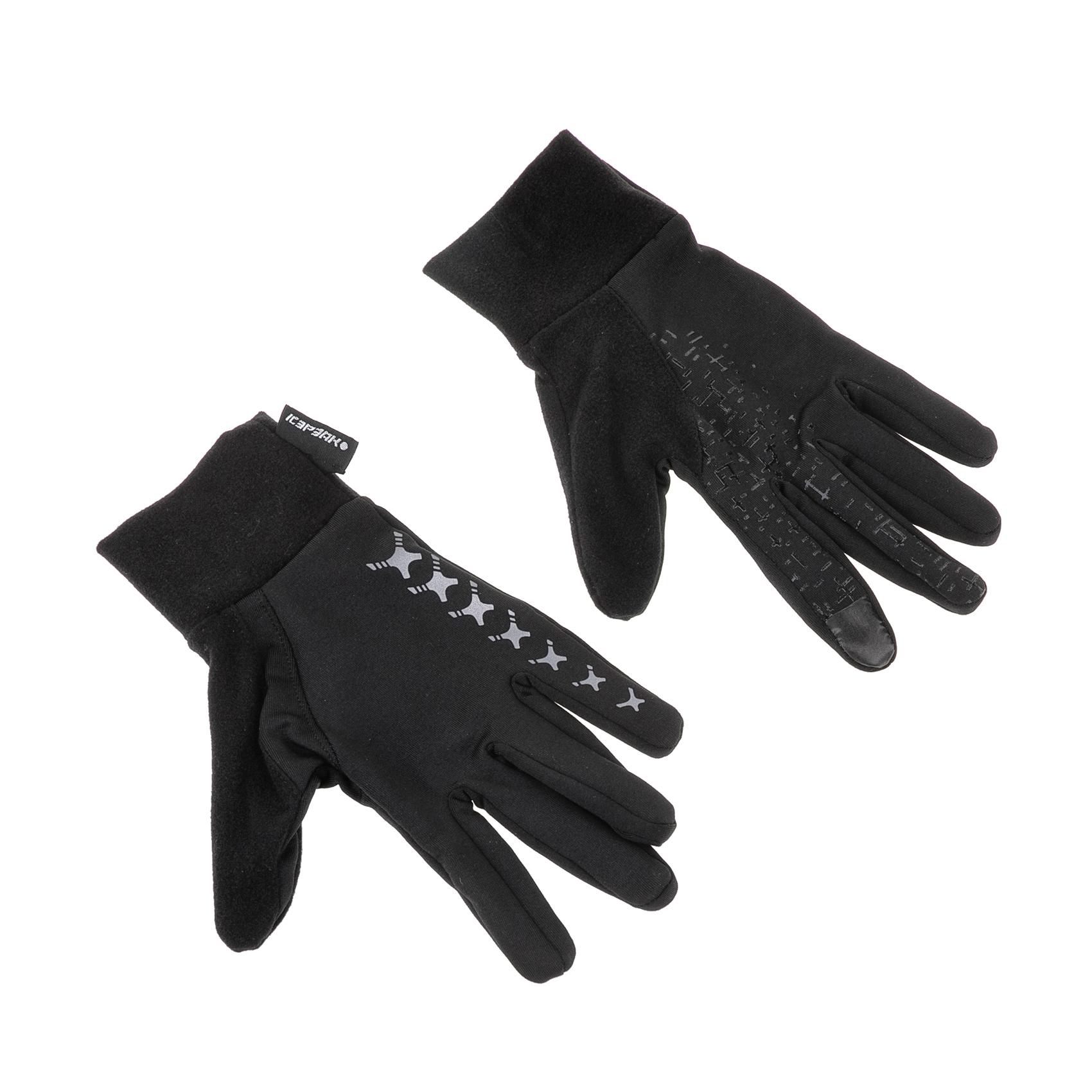 ICE PEAK - Unisex γάντια ορειβασίας Ice Peak HANSA μαύρα γυναικεία αξεσουάρ φουλάρια κασκόλ γάντια