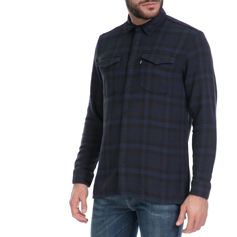 LEVI'S – Ανδρικό πουκάμισο L8 WORKSHIRT LEVI'S μαύρο-μπλε