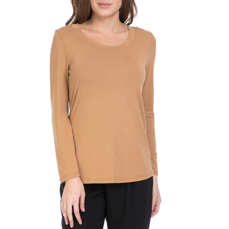 VS - Γυναικεία μπλούζα VS μπεζ γυναικεία ρούχα μπλούζες μακρυμάνικα