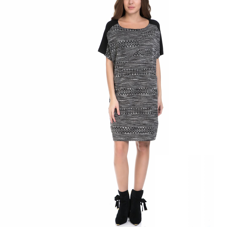 VINTAGE SUGAR – Γυναικείο φόρεμα VINTAGE SUGAR μαύρο-λευκό
